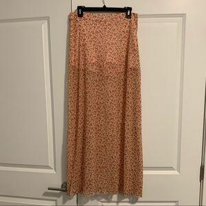 Nordstrom | Mimi Chica Sheer Flower Maxi Skirt